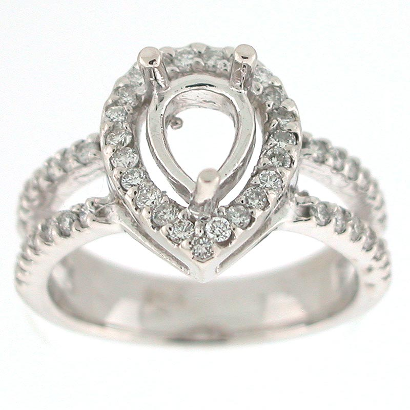 Ring Settings Diamond Ring Settings For Pear Shaped Diamonds